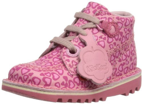 Kickers Girls Kickghill Suede IF Boots 1-12459 Dark Pink 12 UK Child, 30 EU