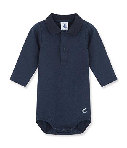 Petit Bateau - Body - Uni - Col polo - Manches longues - Bébé Garçon - Bleu  (Abysse) - FR   18 mois (Taille fabricant   18 mois) b0057b716ad