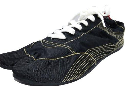 [無敵]MUTEKI 【ランニング足袋】伝統職人の匠技が創り出すランニングシューズ《008-muteki-黒》 (26.5)