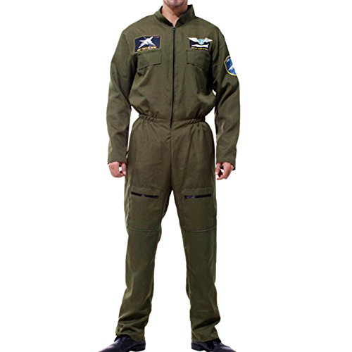 Qianle Men's Army Special Forces Fancy Dress Costume Halloween Cosplay Costume