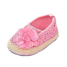 Infant Girls\' Shoes Floral Net Yarn Ballerina Us Sizes 3 Pink