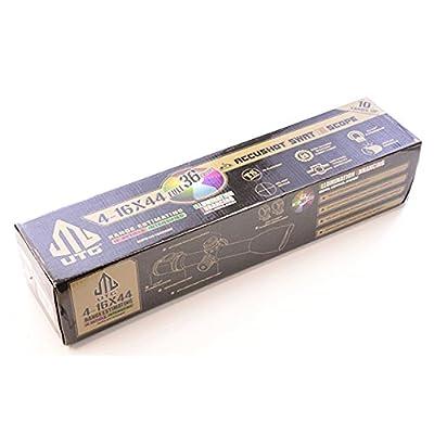 UTG 4-16X44 30mm Scope, AO, 36-color Mil-dot, w/ Rings
