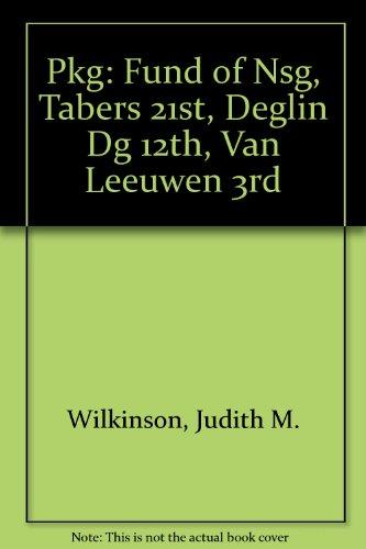 Pkg: Fund Of Nsg, Tabers 21st, Deglin DG 12th, Van Leeuwen 3rd
