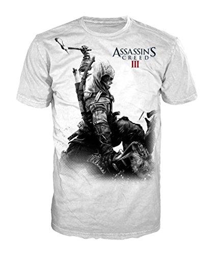 Assassins Creed III - T Shirt Monotone Connor - Maglia girocollo - bianca - M