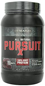 Pursuit Rx All Natural 100% Whey Protein Supplement, Rich Chocolate, 2 Pound