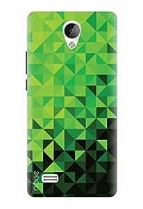Noise Designer Printed Case / Cover for Vivo Y21 / Patterns & Ethnic / Green Geometric Design
