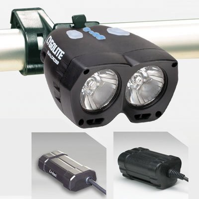 Cygo-Lite Dual Cross PRO Headlight LED Li-Ion Black