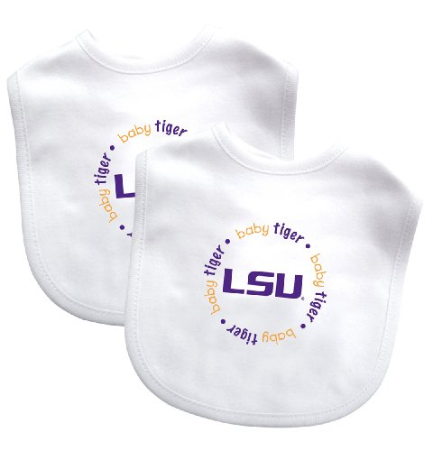 Baby Fanatic Team Color Bibs, Louisiana State University, 2-Count front-1046368
