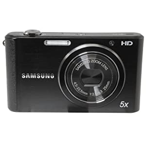 Samsung ST77 Compact Digital Camera - Black - 16.1MP - 5x Optical Zoom