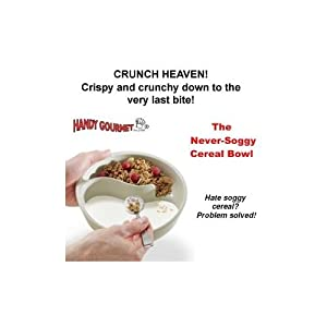 HANDY GOURMET NO SOG 2 SECTION PUDDING AND CEREAL BOWL. Crispy and crunchy to the very last bite