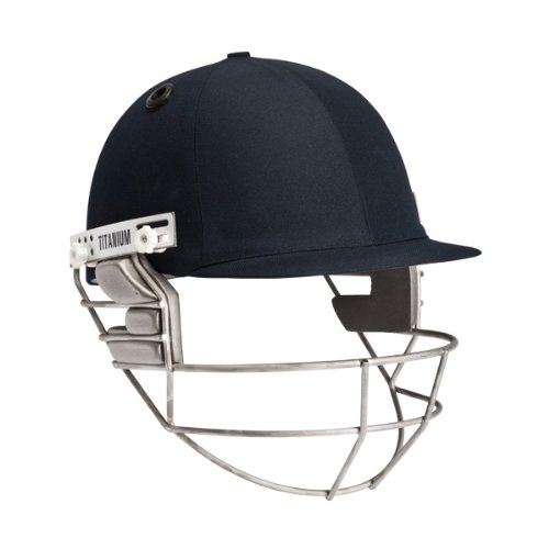 Masuri Senior Cricket Helmet Titanium Grill (Navy,Senior Large)