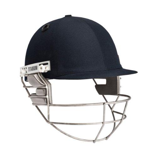 Masuri Senior Cricket Helmet Titanium Grill (Navy,Senior Large)
