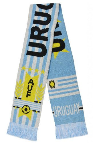 2014 World Cup Uruguay Super Fans Football Jacquard Scarf - Multi One Size at Amazon.com