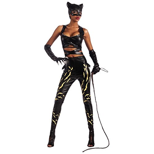 [GSG Catwoman Costume Adult Womens Sexy Hero Villain Cat Woman Halloween] (Robin Kids Costumes Kit)