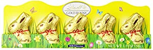 Mini Lindt GOLD BUNNY - Milk Chocolate 5 Count