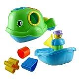 Shape Sorter Bath Toy Willie The Whale Push Along Bath Toy Blue