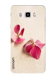 Omnam Natural Pink Leaves Printed Designer Back Cover Case For Samsung Galaxy J5 (2016)