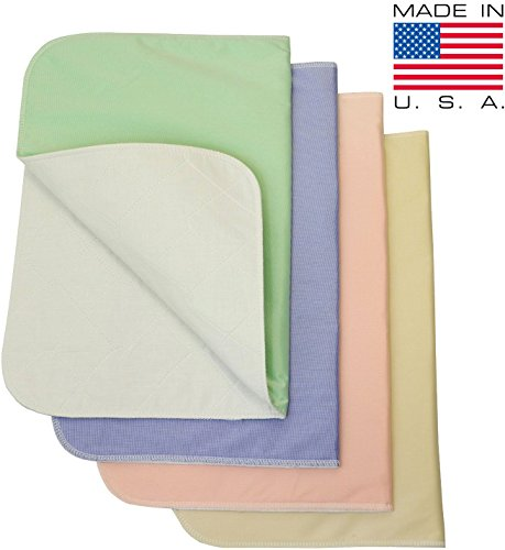 Washable Bed Pads Chair Pads / Incontinence Small Underpad - 18x24 - 4 Pack (Washable Bed Pads compare prices)