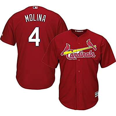 Yadier Molina St. Louis Cardinals #4 MLB Men's Cool Base Alternate Jersey Red