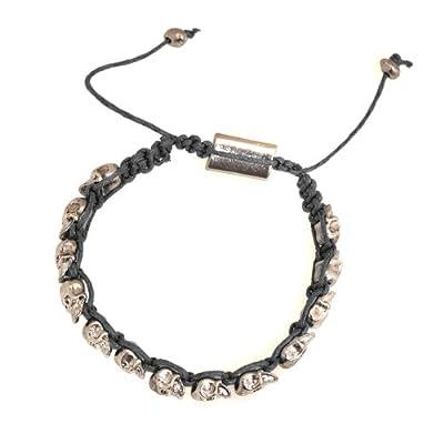Spinningdaisy Style Tiny Skull String Bracelet Black Color from ESPYNY