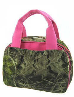 Pink Camo Camouflage Insulated Lunch Bag Box