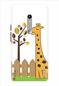 Noise Happy Giraffe Printed Cover for Motorola Moto X Play
