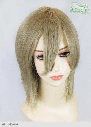 スキップウィッグ 魅せる シャープ 小顔に特化したコスプレアレンジウィッグ シャイニーミディ アッシュゴールド
