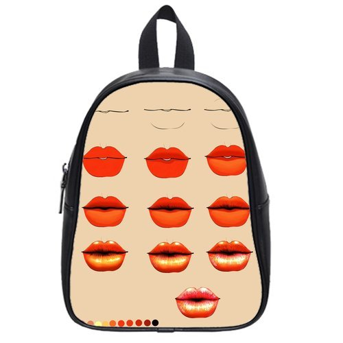 Anhome Print Sexy Lips Red Gradual Change Custom School Bag/Backpack front-878217