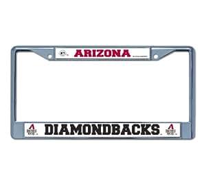 Amazon Com Mlb Arizona Diamondbacks Chrome License Plate