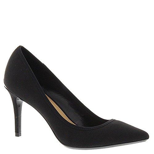 Calvin Klein Womens Gayle Black Pump Heels Shoes Stretch Fabric Size 5.5