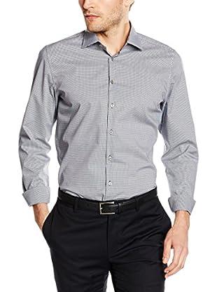 Seidensticker Camisa Vestir Super Slim (Gris / Blanco)