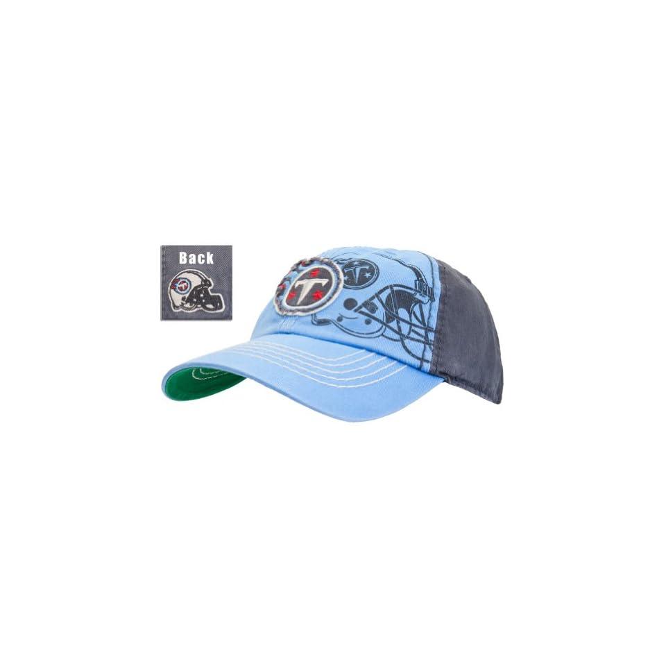 Tennessee Titans   Mens   Logo Webster Adjustable Baseball Cap Light Blue Sports & Outdoors