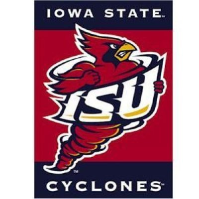 Iowa State Cyclones 2-sided 28in x 40in banner iowa state university padded swivel bar stool 30 inches high