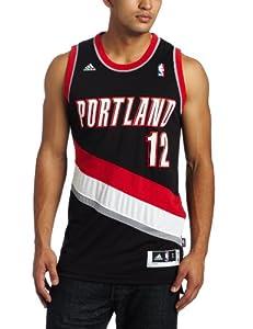 NBA Portland Blazers Lamarcus Aldridge Road Swingman Jersey Black by adidas