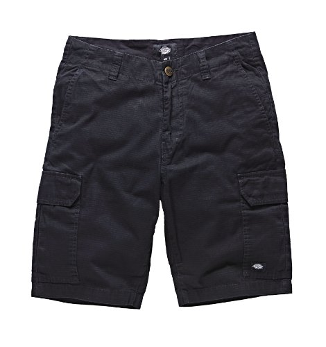 Dickies - New York, Pantaloni corti da uomo, Nero (Black), 32