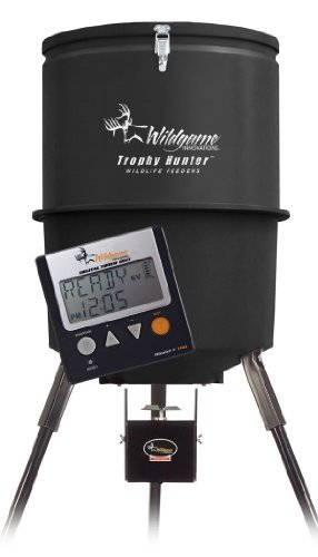 Wildgame Innovations 30 Gallon Digital Poly Barrel Feeder front-1046346
