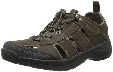 Teva Men's Kimtah Waterproof Leather Sandal,Turkish Coffee,7 M US