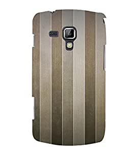 Brown Line Pattern 3D Hard Polycarbonate Designer Back Case Cover for Samsung Galaxy S Duos 2 S7582