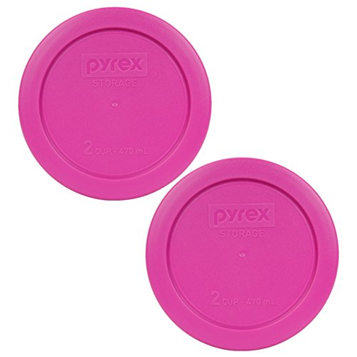 Pyrex 7200-PC Round 2 Cup Storage Lid for Glass Bowls (2, Pink) (Replacement Pyrex Lid 2 Cup compare prices)