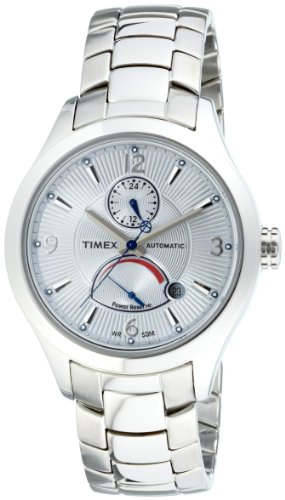 Timex T Series Automatic T2M979PF Men's Analog Watch with Stainless Steel Round Dial, White Back and Steel Bracelet