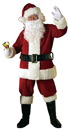 Rubie's Costume Velvet Santa Suit With Wig And Beard, Red/White, Standard