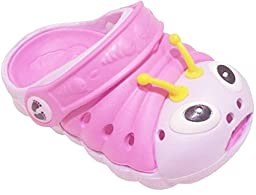 Clogstrom Clogs for Infant or Toddler Boys and Girls Unisex Sandal Animals Shoe (4.5 Pink/Off-White)