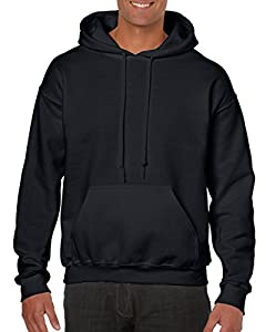 Gildan Heavy Blend Adult Unisex Hooded Sweatshirt / Hoodie Black - Medium