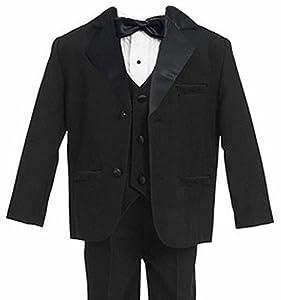 Gino Giovanni Boy's Black Tuxedo Suit