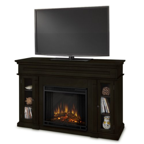 Lennonbrook Ventless Electric Entertainment Center Indoor Fireplace Dark Walnut photo B007R66T7S.jpg