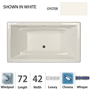 "Acero 72"" x 42"" Whirlpool Tub Color: Oyster"