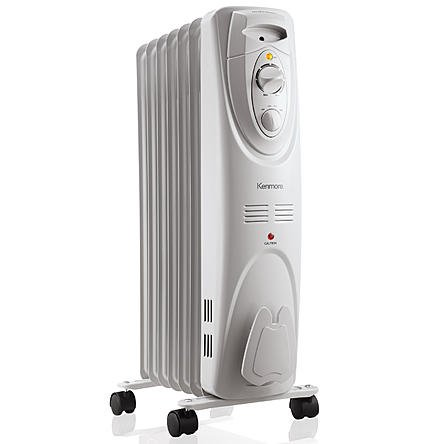 Kenmore Oil-filled Radiator Heater White - Large Room Heating (Large Oil Filled Radiator Heater compare prices)
