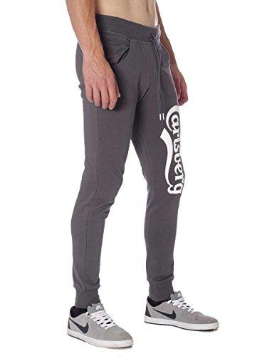 Pantalone Carlsberg In Felpina Invernale CBU2324 Made In Italy Grigio Piombo, S MainApps
