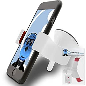 iTALKonline HTC HD Mini White SuperClaw Multi-Directional Dashboard / Windscreen, Case Compatible (Use with or without your existing case!) Clip On Suction Mount In Car Holder