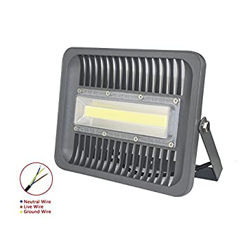 ASIGN 100W LED Cob Outdoor Flood Lights, Super Bright Work Lights 10000lm 600W Halogen Bulb Equivalent 6000K Daylight White IP66 Waterproof Security Light for Garage Yard
